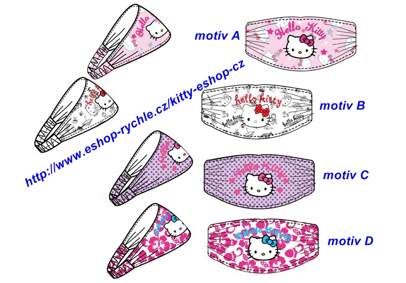 Čelenka Hello Kitty - motiv D