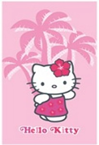 Osuška Hello Kitty Hawai 70 x 120cm