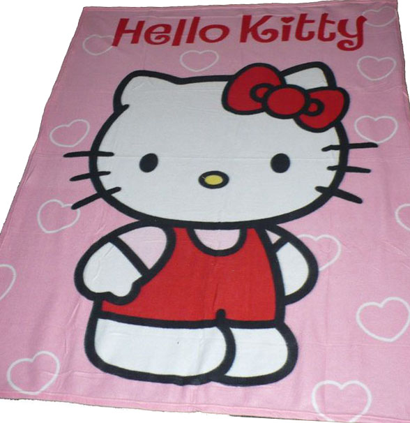 fleesová deka Hello Kitty 125 x 160 cm.