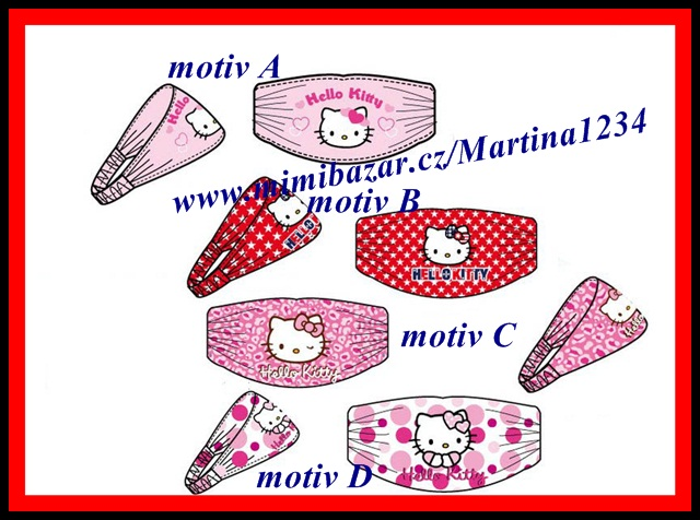 Čelenka Hello Kitty - motiv B