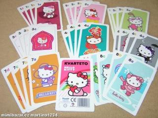 Karty - kvarteto - Hello Kitty